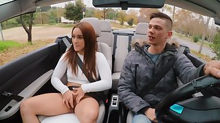 Aroused inclusive gets a ride dwelling and some dick in between