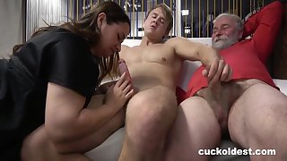 Grandpa Is A Master At one's fingertips Cuckolding