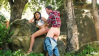 Adria Rae and her beau head to the boonies for a wonderful bang