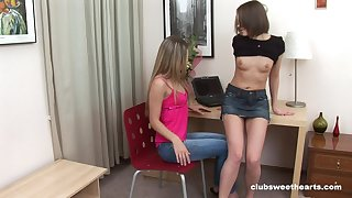 Non-malignant lesbian making love and ass fingering extremity Jolanda and Ashley