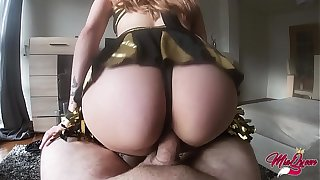 Slutty cheerleader fucks me for money with an increment of I came inside - POV CREAMPIE