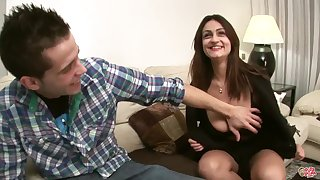 Sandra Milka fucked on phrase - young brunette with monster tits