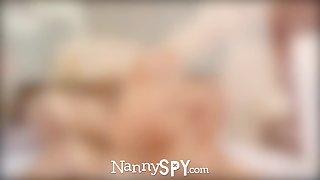 NannySpy Babysitter Kylie Page caught masturbating and fucks