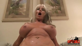 Old and young pussy fuck with Sally D'Angelo