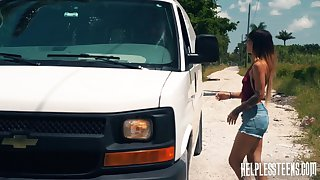 Kitty Carrera gets fucked by a stranger coupled with that guy is an patriarch master