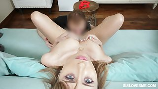 Hot and naughty girl Daphne Dare gets lucid of thongs and gets pussy licked